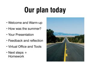 Agenda-slide